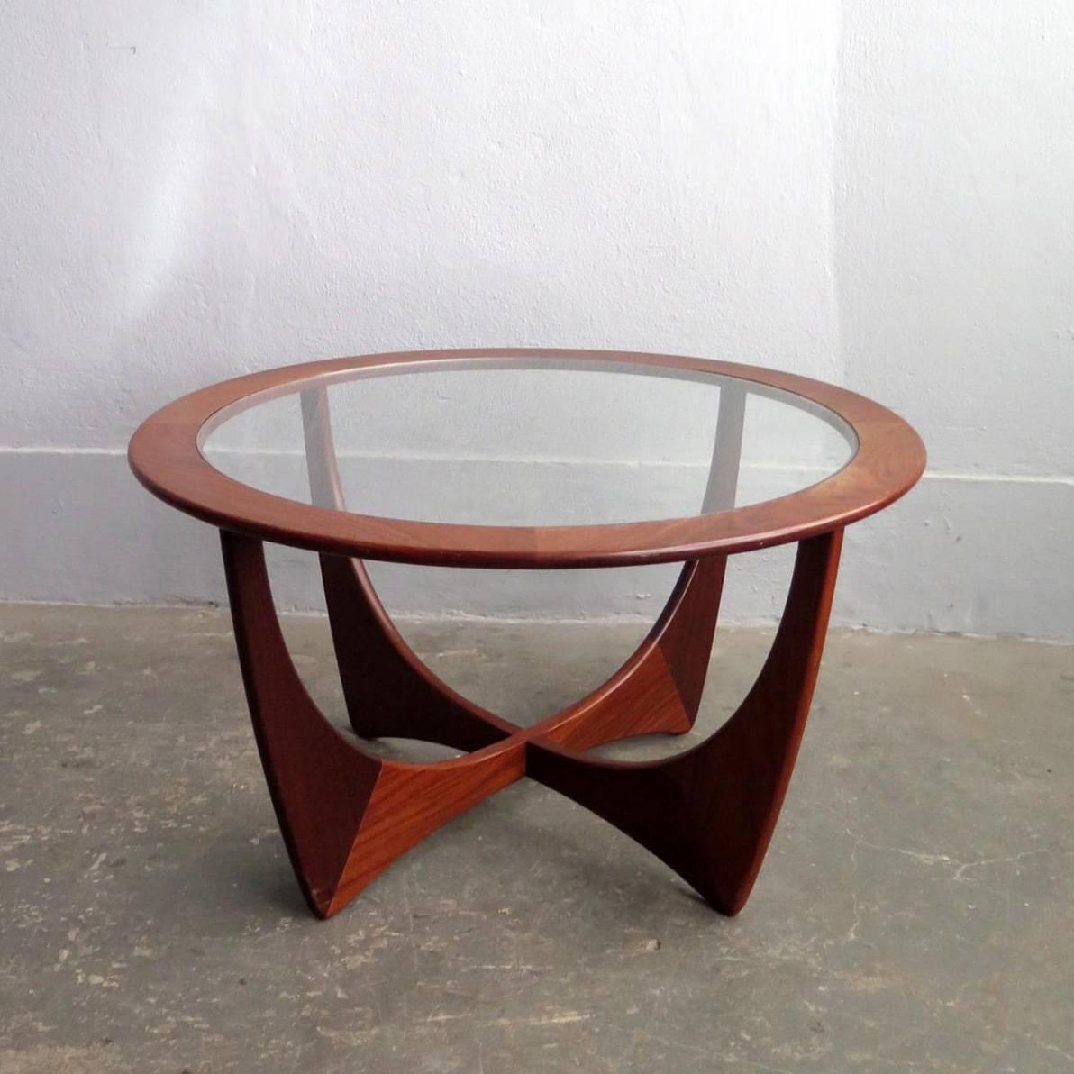 Teak Glass Top Coffee Table | Courtagerivegauche Regarding Retro Teak Glass Coffee Tables (View 5 of 30)