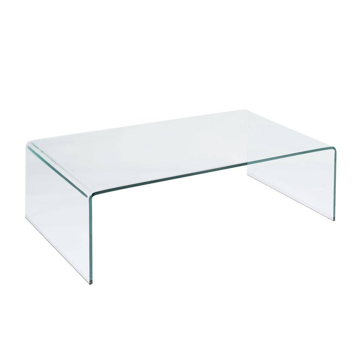 "Tempered Glass Coffee Table 42.0"" X 19.7"" - Coffee Tables - Accent in White and Glass Coffee Tables (Image 26 of 30)"