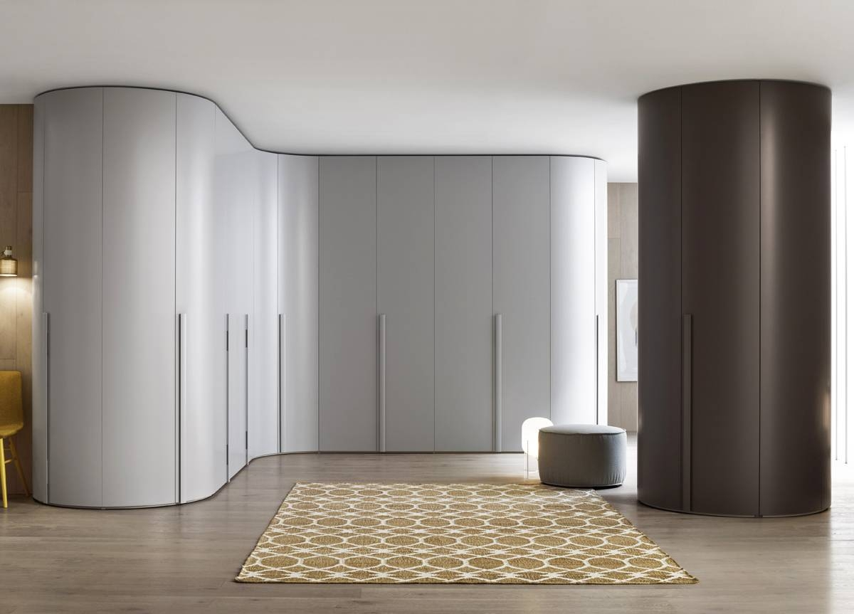 & Top 30 of Curved Wardrobe Doors