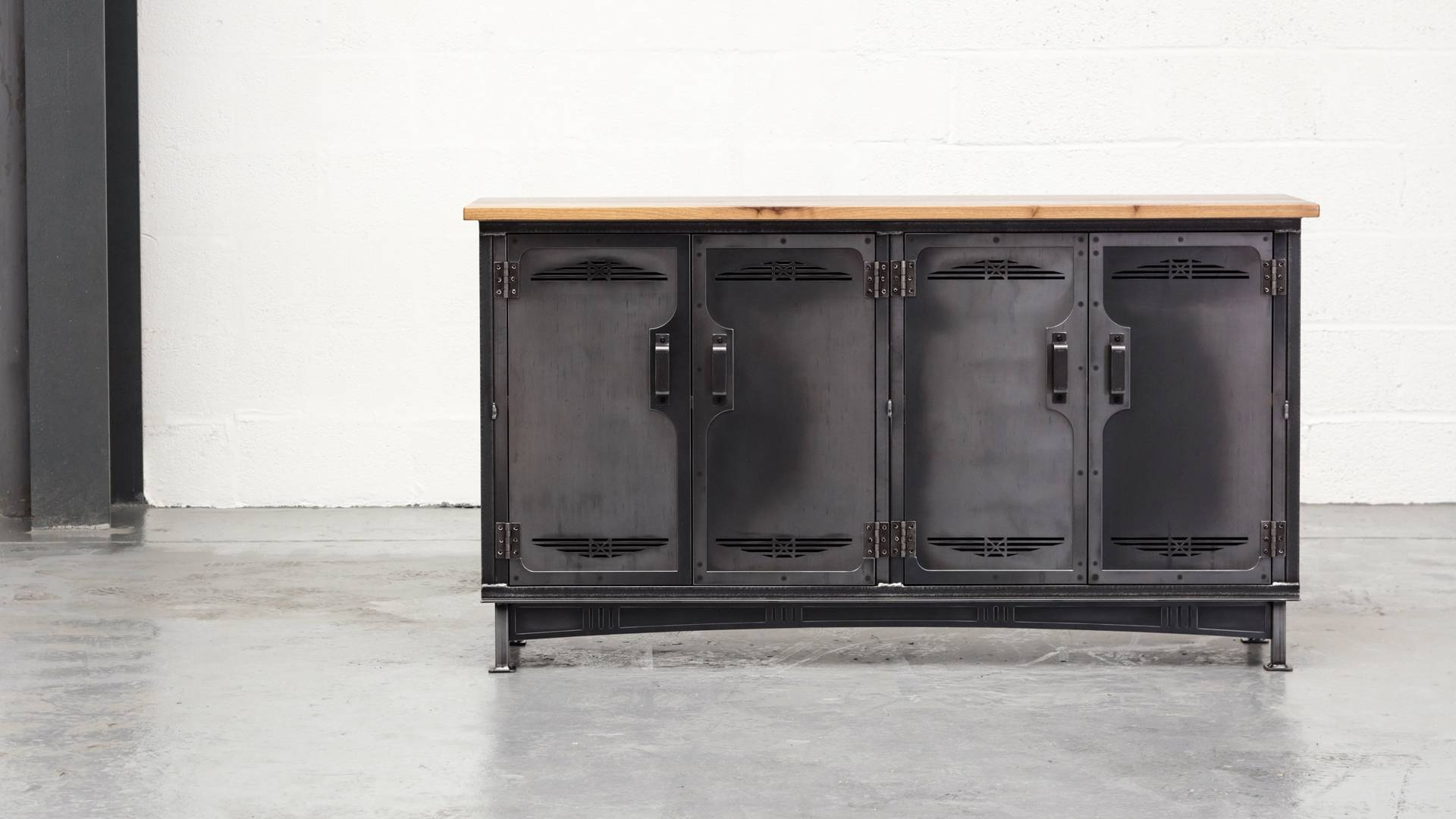 The Armoury Sideboard - Steel Vintage Industrial Furniture in Metal Sideboard Furniture (Image 29 of 30)