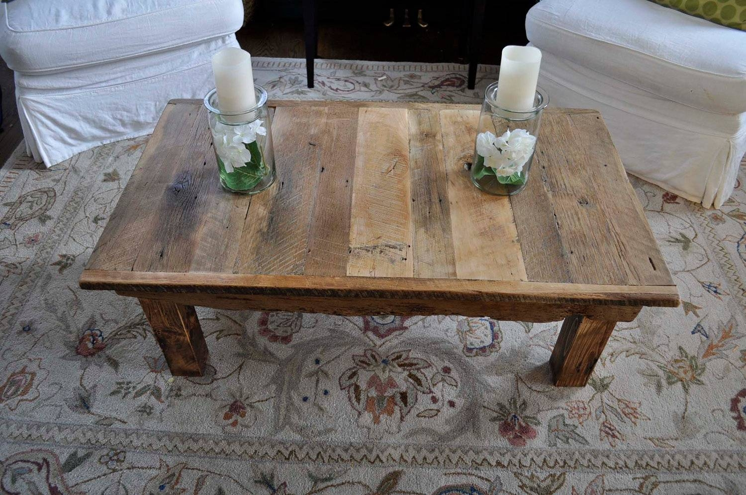 Featured Photo of Rustic Barnwood Coffee Tables