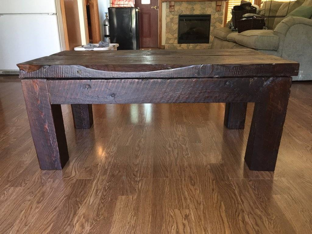 The Barn Wood Coffee Table — Home Ideas Collection regarding Rustic Barnwood Coffee Tables (Image 29 of 30)
