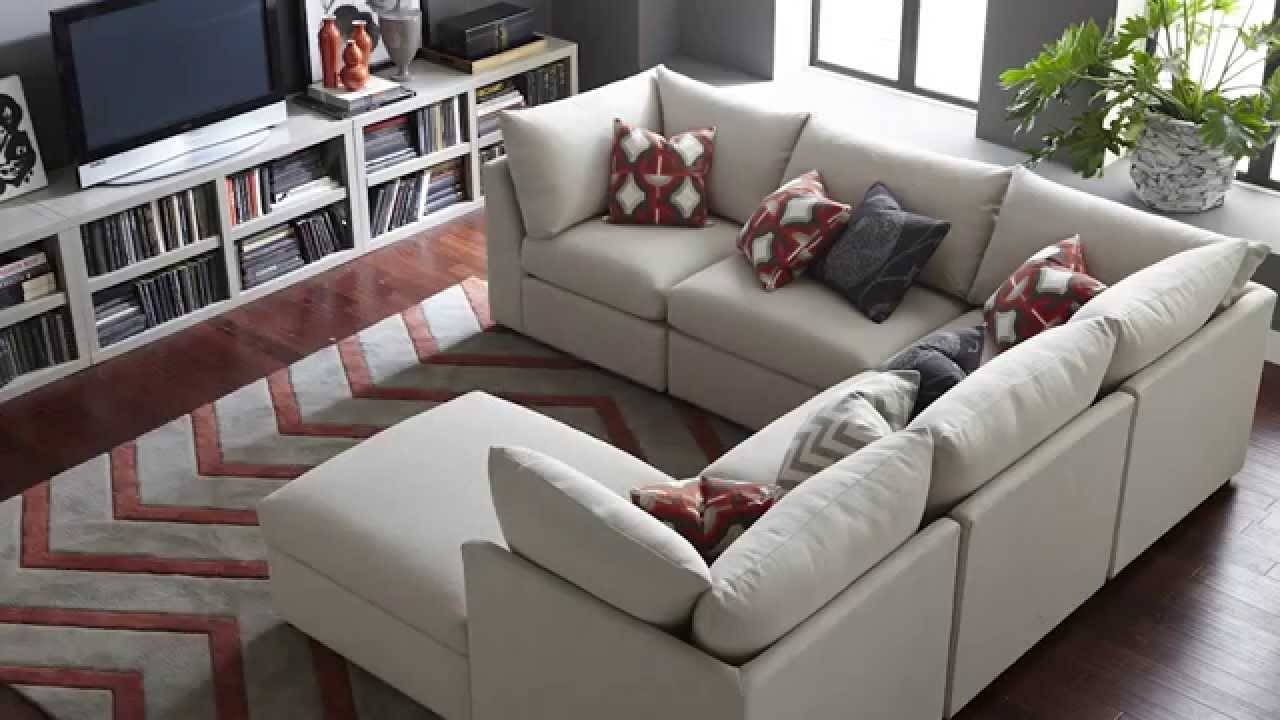 The Beckham Sectional Sofabassett Furniture - Youtube in Pit Sofas (Image  30 of 30)