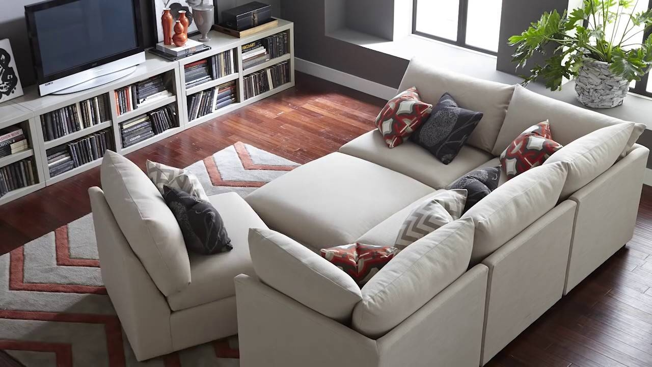 The Beckham Sectional Sofabassett Furniture - Youtube pertaining to Bassett Sectional Sofa (Image 28 of 30)
