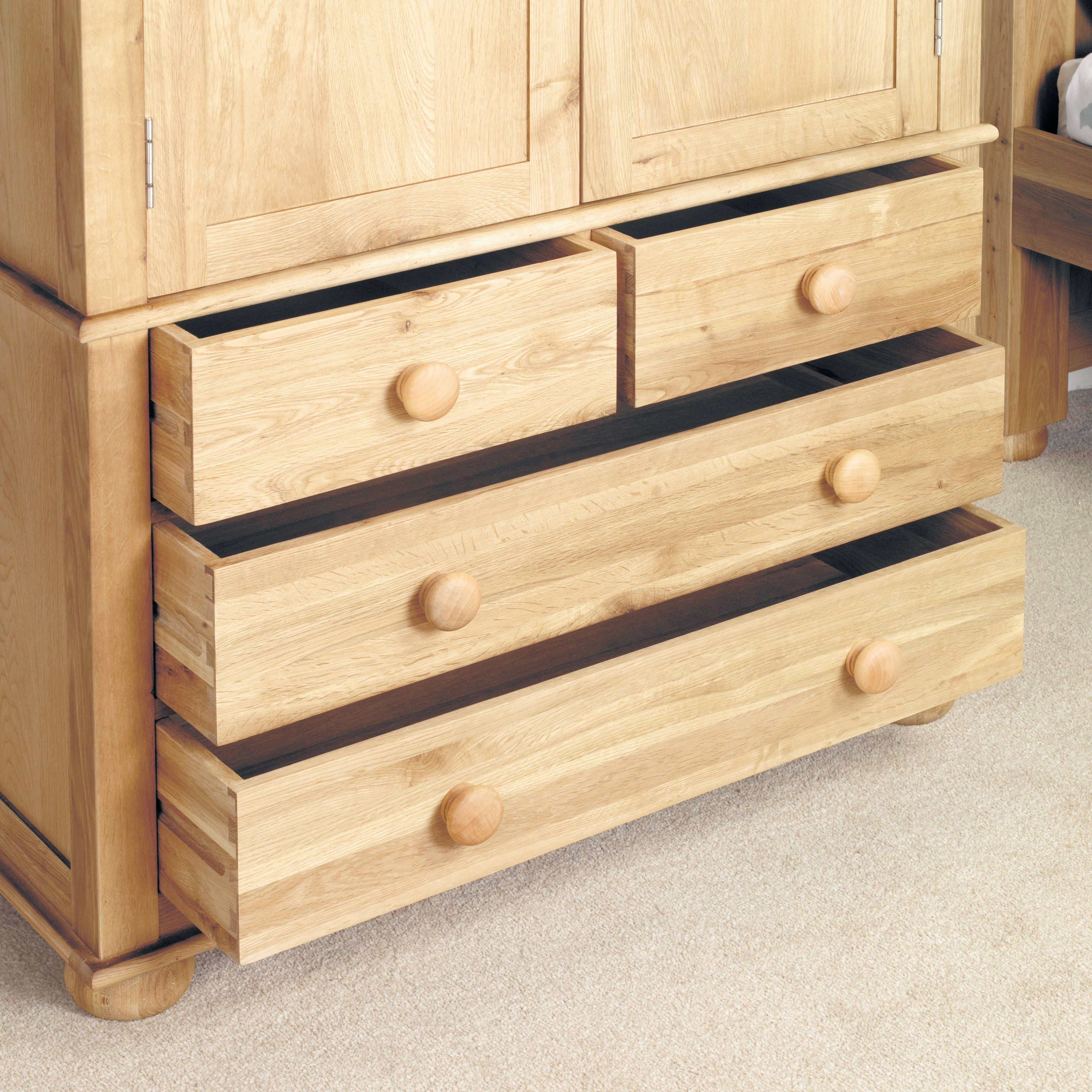 The Best Childrens Double Rail Wardrobes within Double Rail Wardrobe With Drawers (Image 24 of 30)