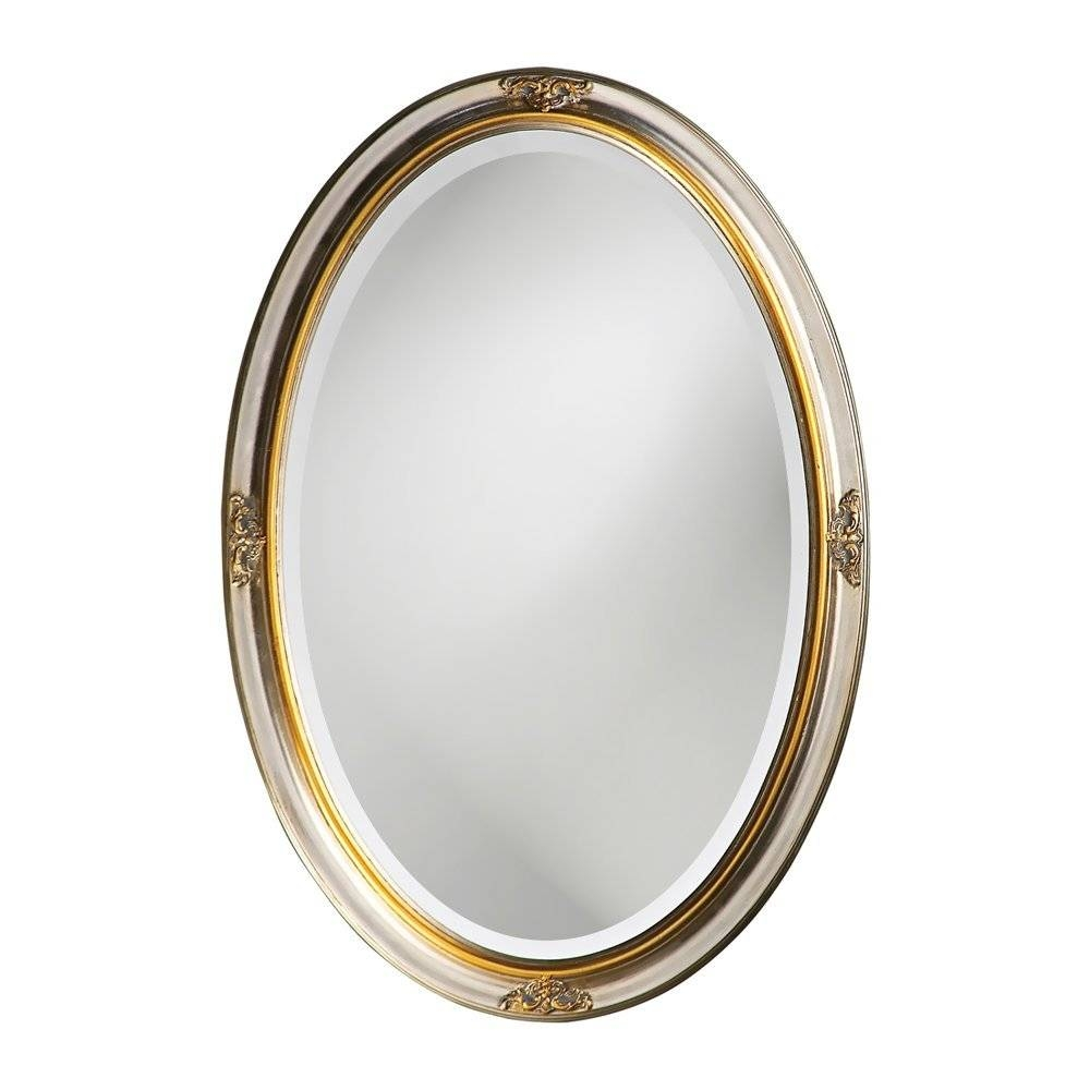 The Best Oval Mirrors For Your Bathroom | Decor Snob for Silver Oval Wall Mirrors (Image 25 of 25)