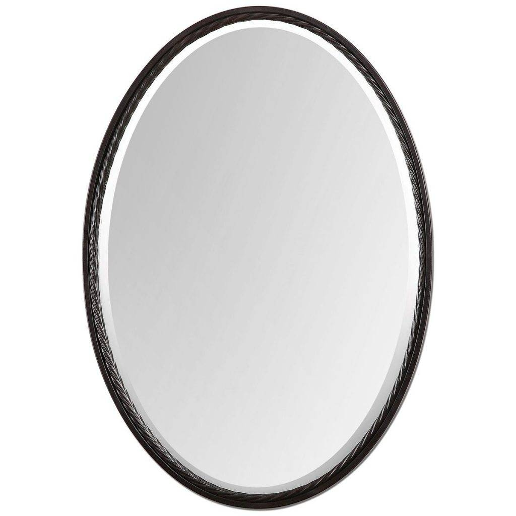 The Best Oval Mirrors For Your Bathroom | Decor Snob in White Metal Mirrors (Image 22 of 25)