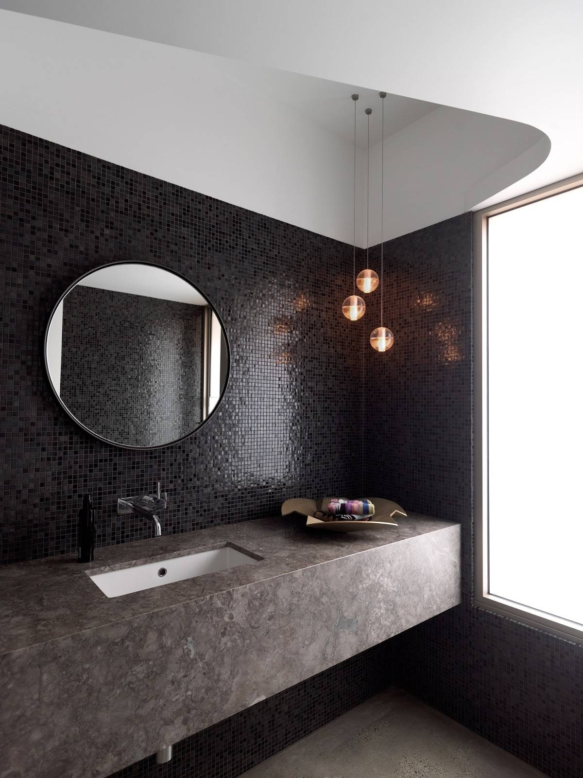 The Best Recommendation Of Round Bathroom Mirrors | Nytexas within Round Black Mirrors (Image 24 of 25)