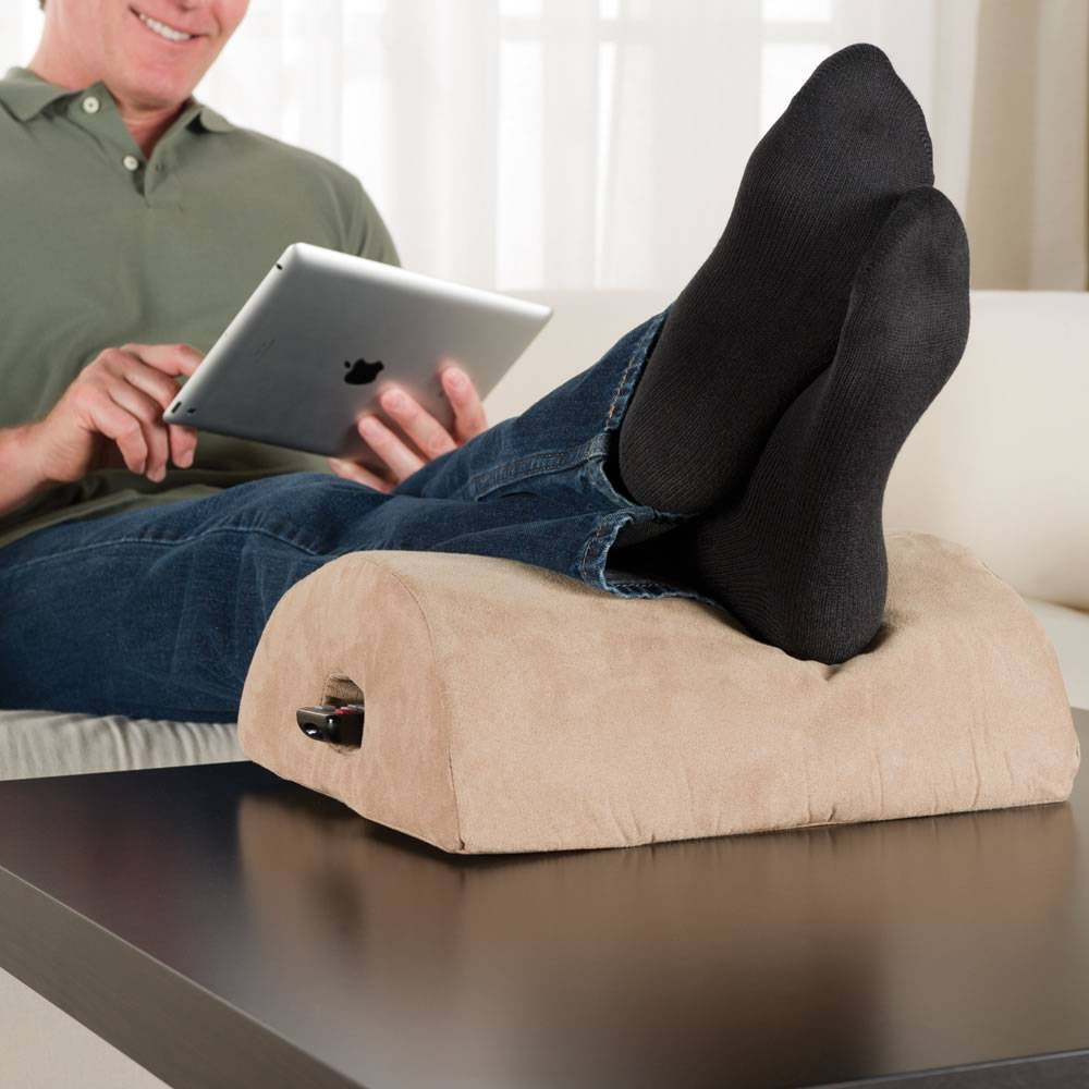The Coffee Table Footrest - Hammacher Schlemmer pertaining to Coffee Table Footrests (Image 28 of 30)