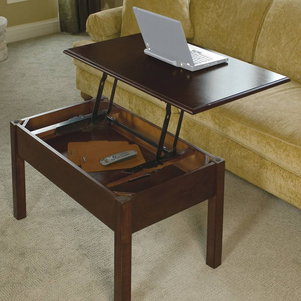 The Convertible Coffee Table - Hammacher Schlemmer inside Desk Coffee Tables (Image 25 of 30)