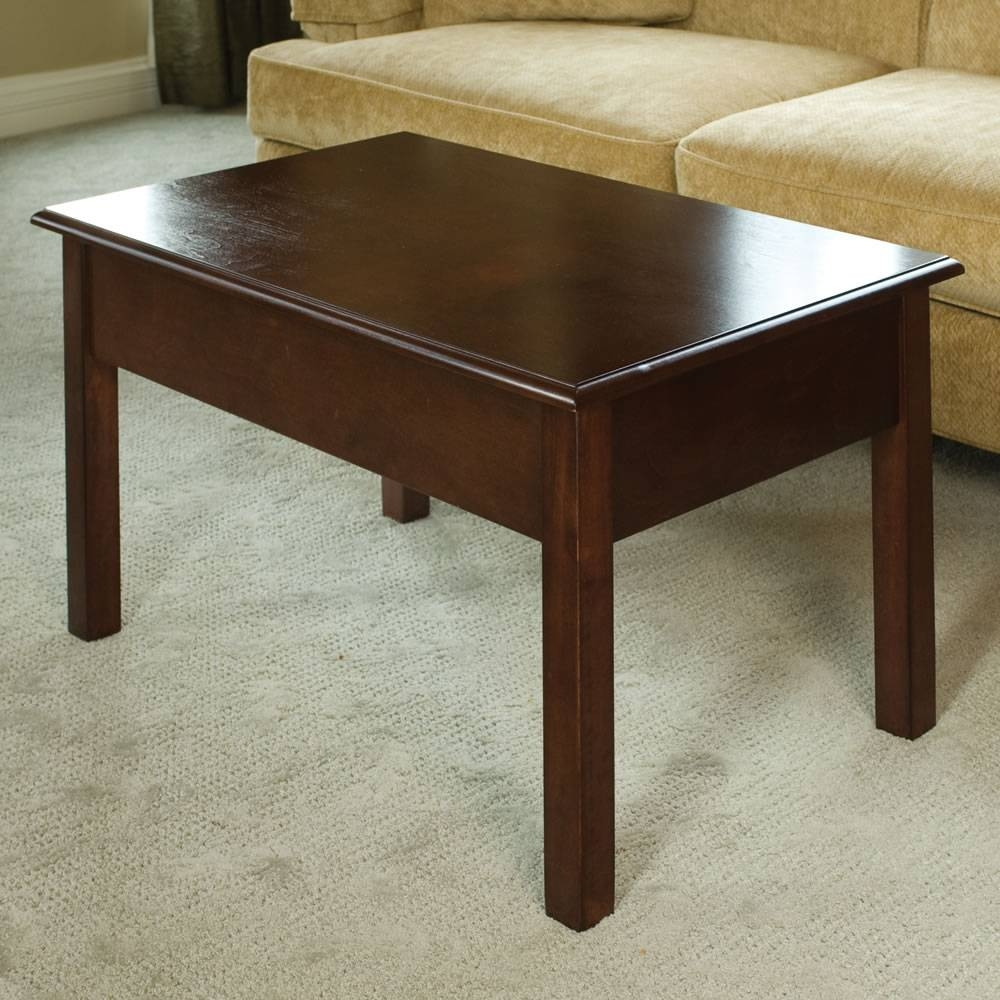 The Convertible Coffee Table - Hammacher Schlemmer regarding Desk Coffee Tables (Image 26 of 30)