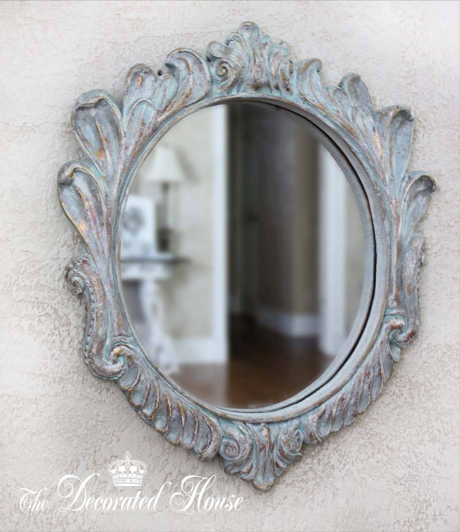 The Decorated House: ~ How To Create A Beautiful Antique Look With with Distressed Silver Mirrors (Image 24 of 25)