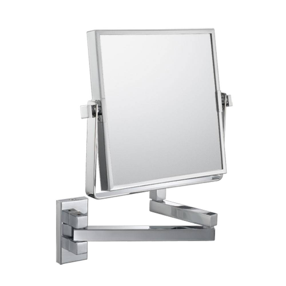 The Double-Sided Square Wall Mounted Makeup Mirror In Wall Mirrors within Square Wall Mirrors (Image 25 of 25)