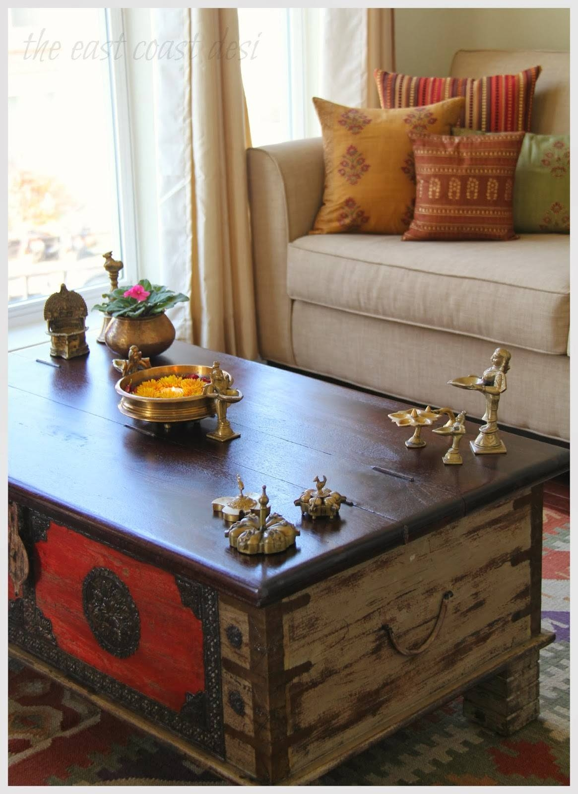 The East Coast Desi: My Living Room A Reflection Of India - Diwali with Ethnic Coffee Tables (Image 25 of 30)