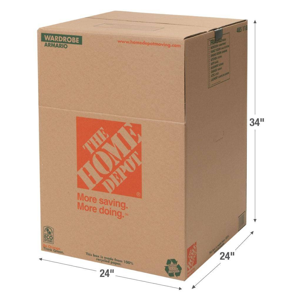 The Home Depot 24 In. L X 24 In. W X 34 In. D Wardrobe Box With with Wardrobe Double Hanging Rail (Image 21 of 30)