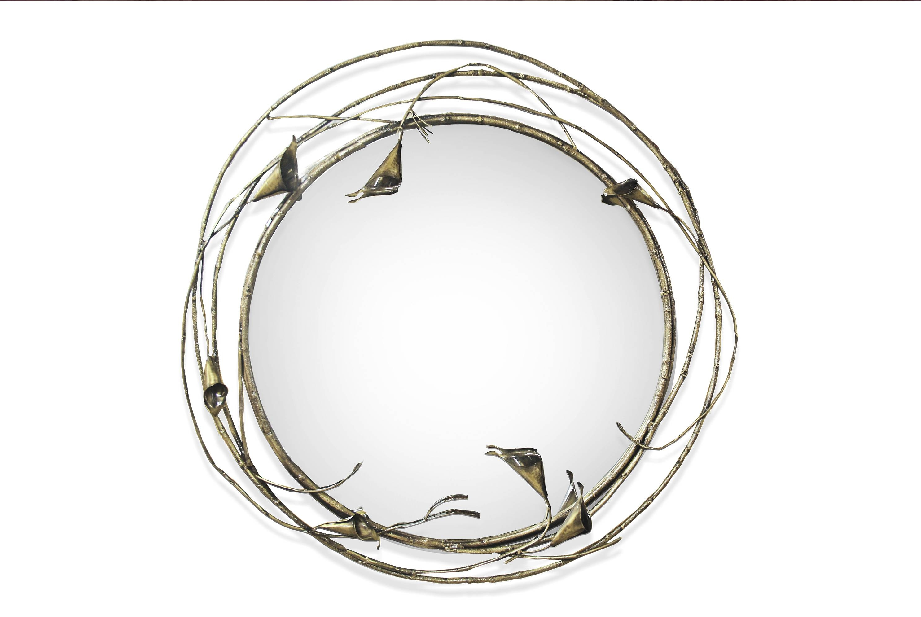 The Most Beautiful Round Mirror Designs For Living Room Inside Designer Round Mirrors (View 24 of 25)