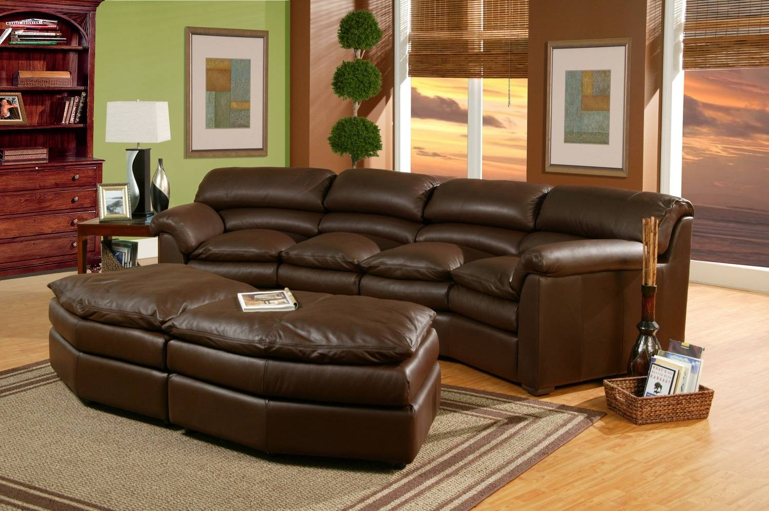 The Most Popular Custom Leather Sectional Sofa 87 With Additional throughout Diana Dark Brown Leather Sectional Sofa Set (Image 29 of 30)