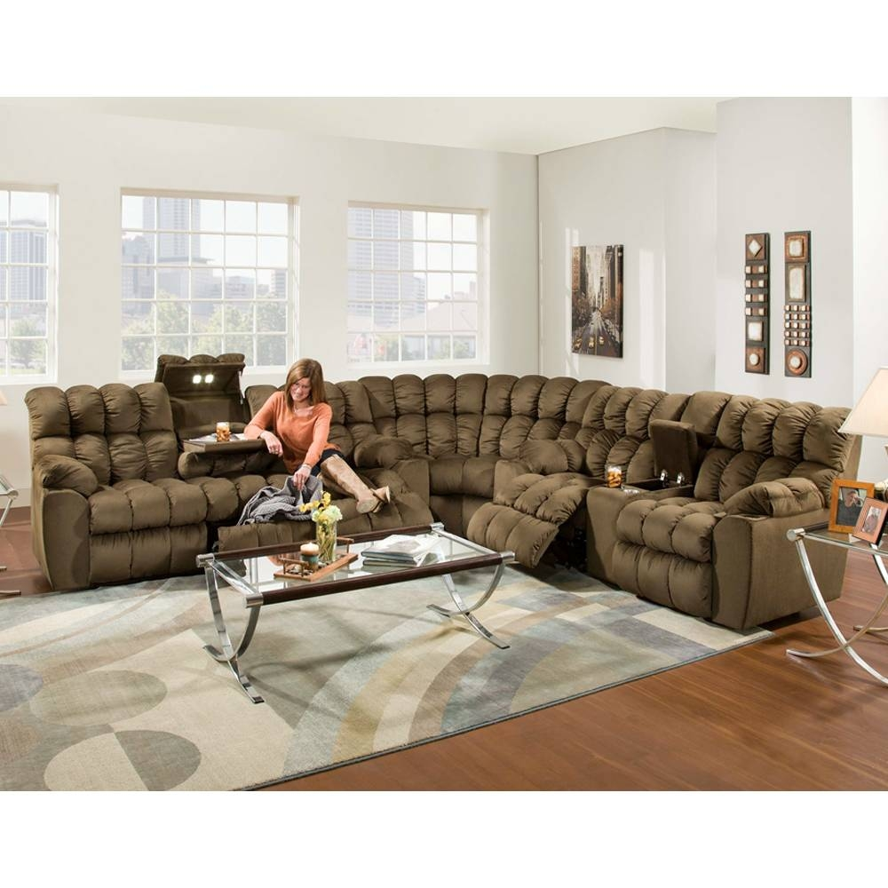 The Most Popular Fabric Sectional Sofa With Recliner 69 For Your with regard to Closeout Sectional Sofas (Image 28 of 30)
