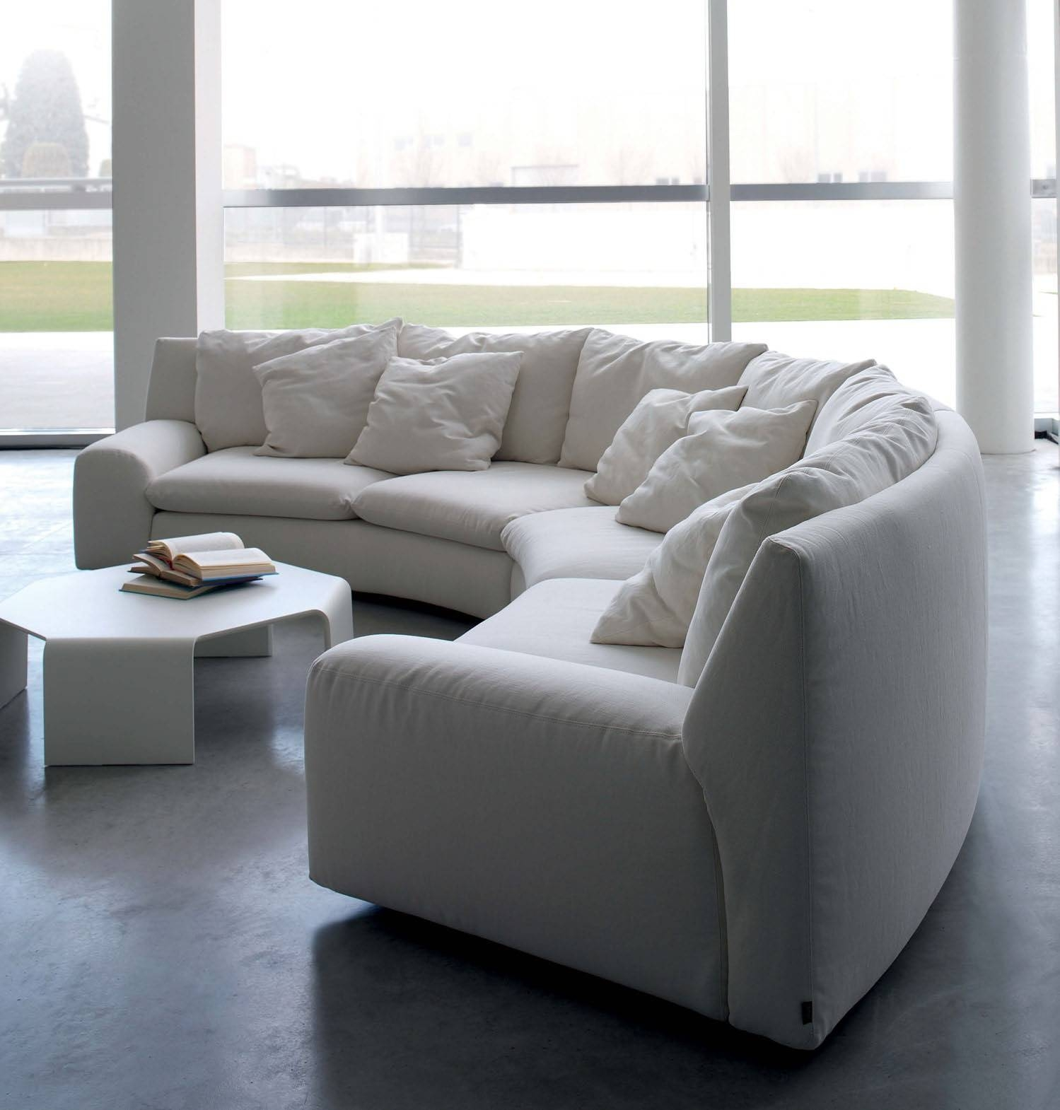 The Semicircular Sofa In Fabric Ben Ben, Arflex - Luxury Furniture Mr within Semicircular Sofa (Image 30 of 30)