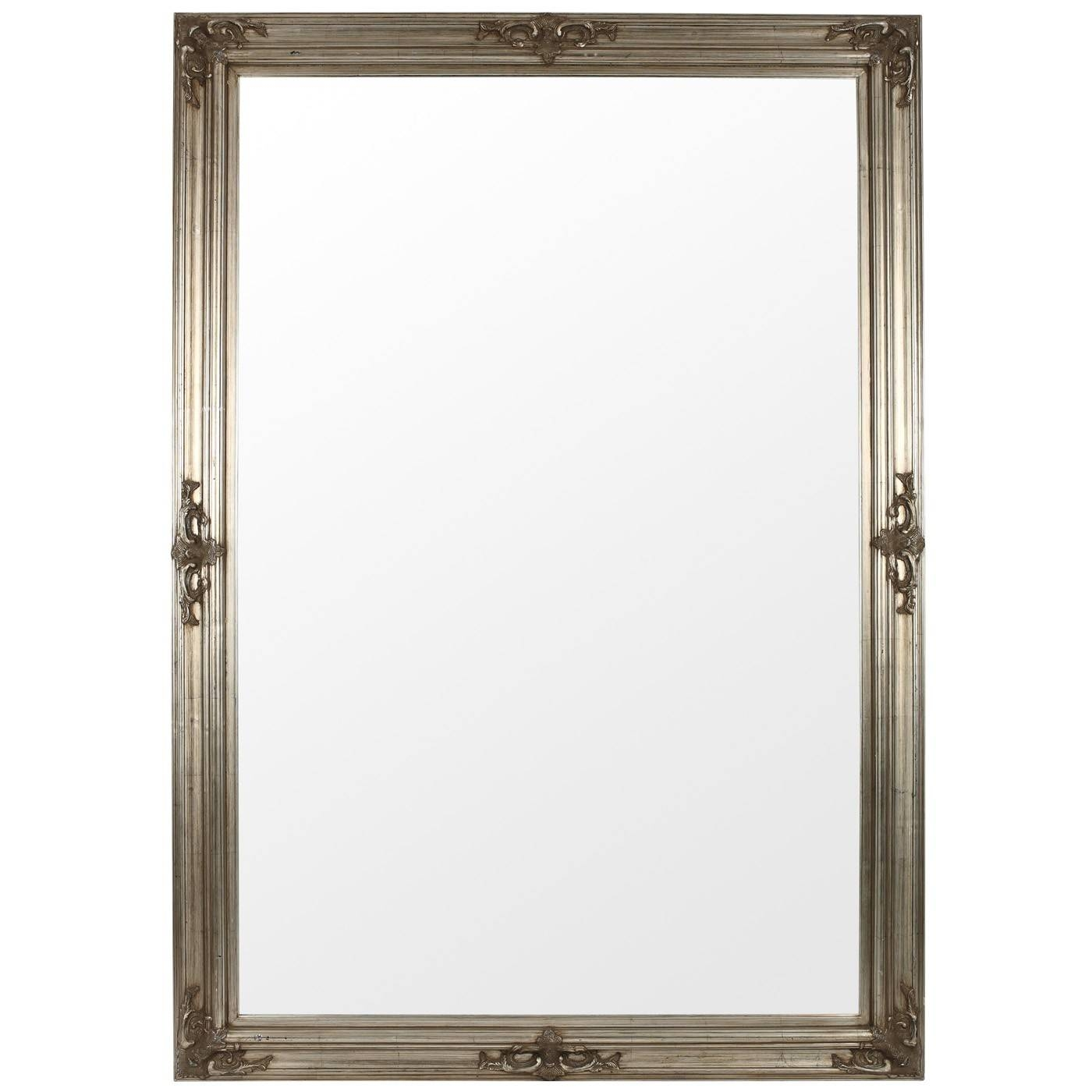 The Silver Gothic Mirror Range Available In Various Sizes As with regard to Large Pewter Mirrors (Image 23 of 25)