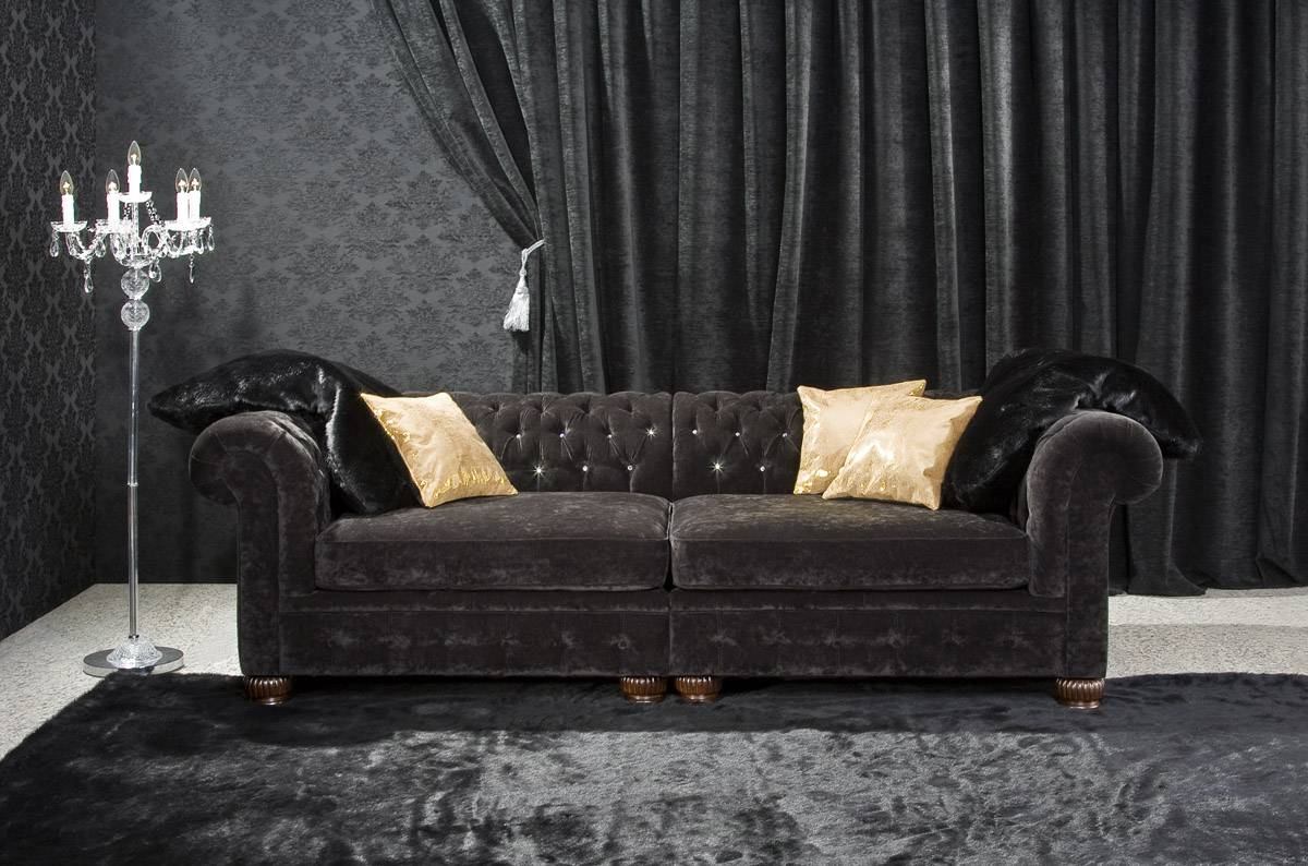 The Touch Of Black Velvet Sofas : S3Net – Sectional Sofas Sale within Black Velvet Sofas (Image 30 of 30)
