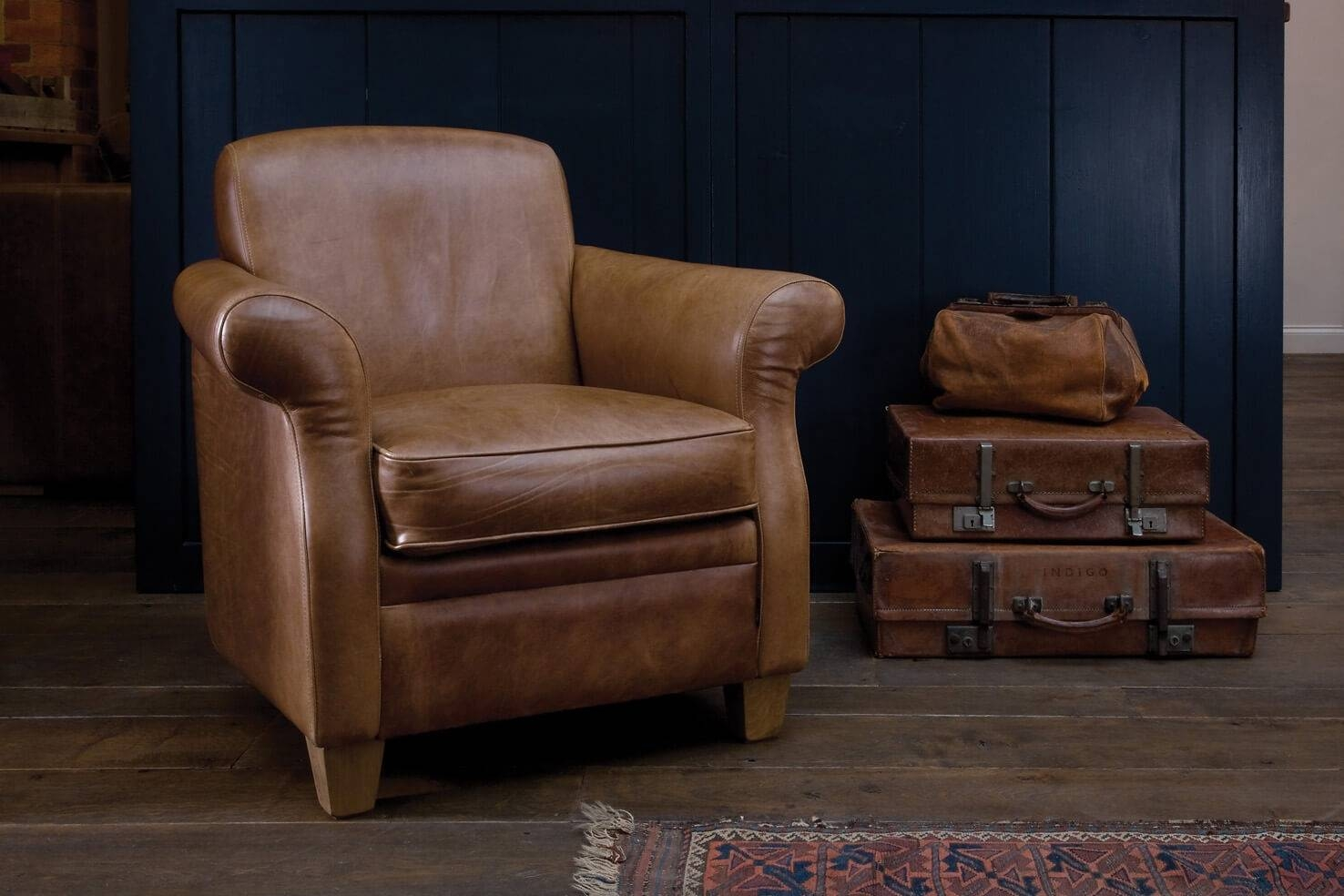 The Vintage Leather Armchairindigo Furniture regarding Vintage Leather Armchairs (Image 14 of 30)