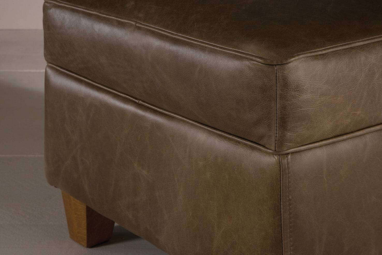 The Vintage Leather Footstoolindigo Furniture within Leather Footstools (Image 28 of 30)