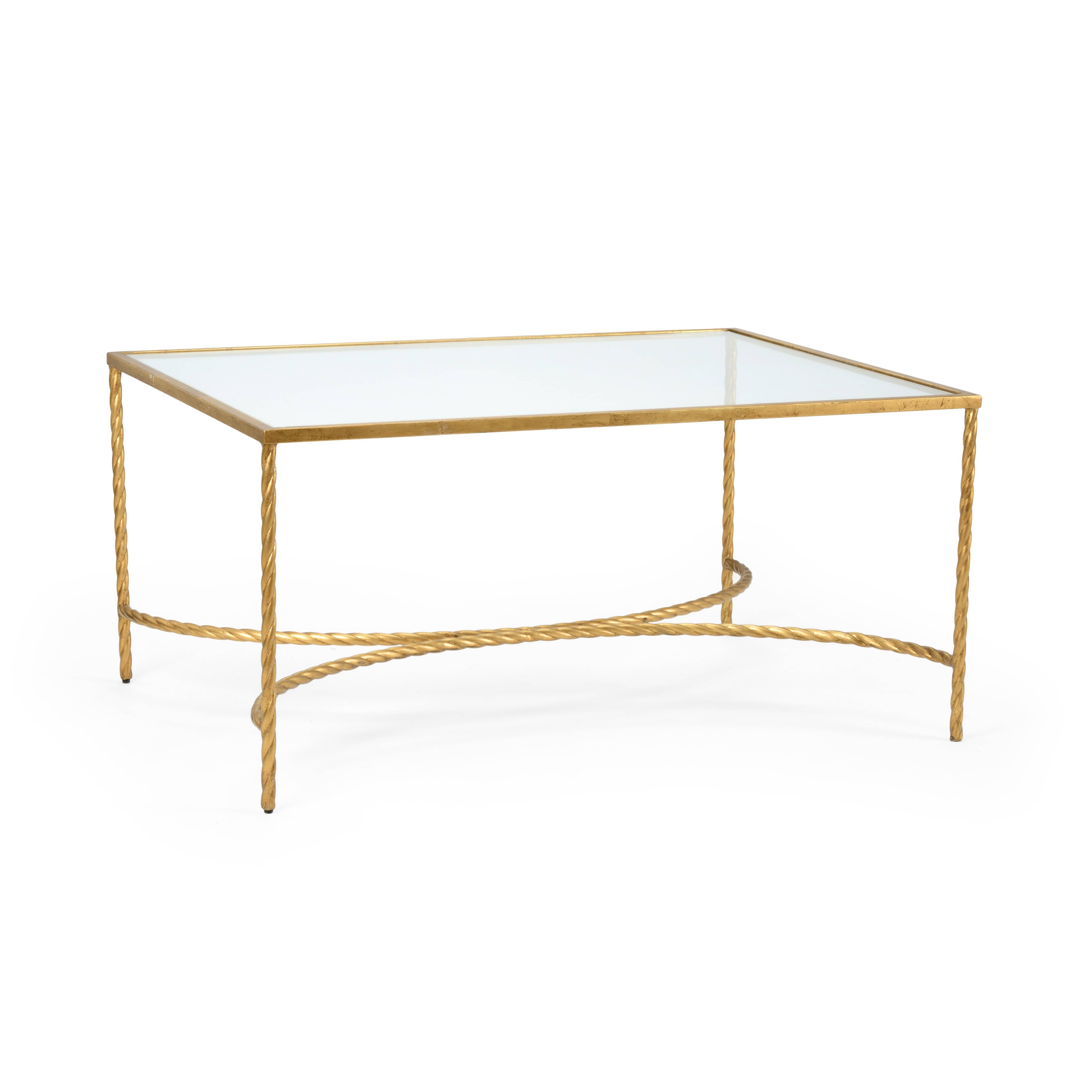 The Well Appointed House   Luxuries For The Home   The Well For Glass Gold Coffee Tables (Photo 15 of 30)