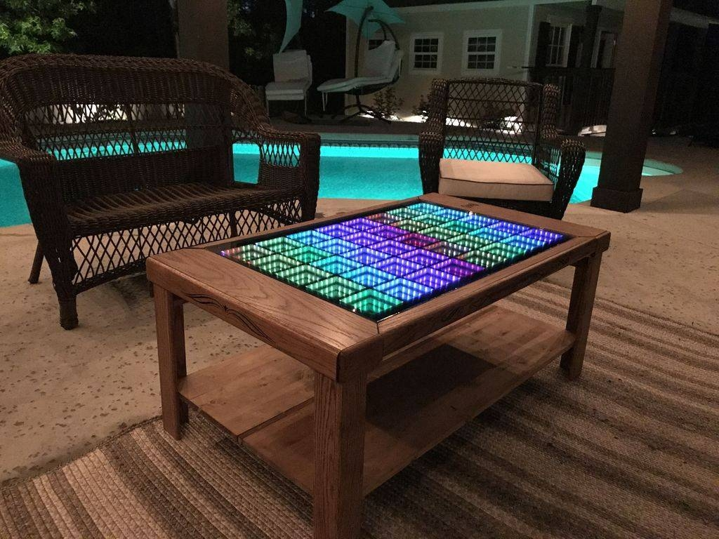 This Led Coffee Table Takes Your Home Decor To Infinity And Beyond! within Led Coffee Tables (Image 28 of 30)
