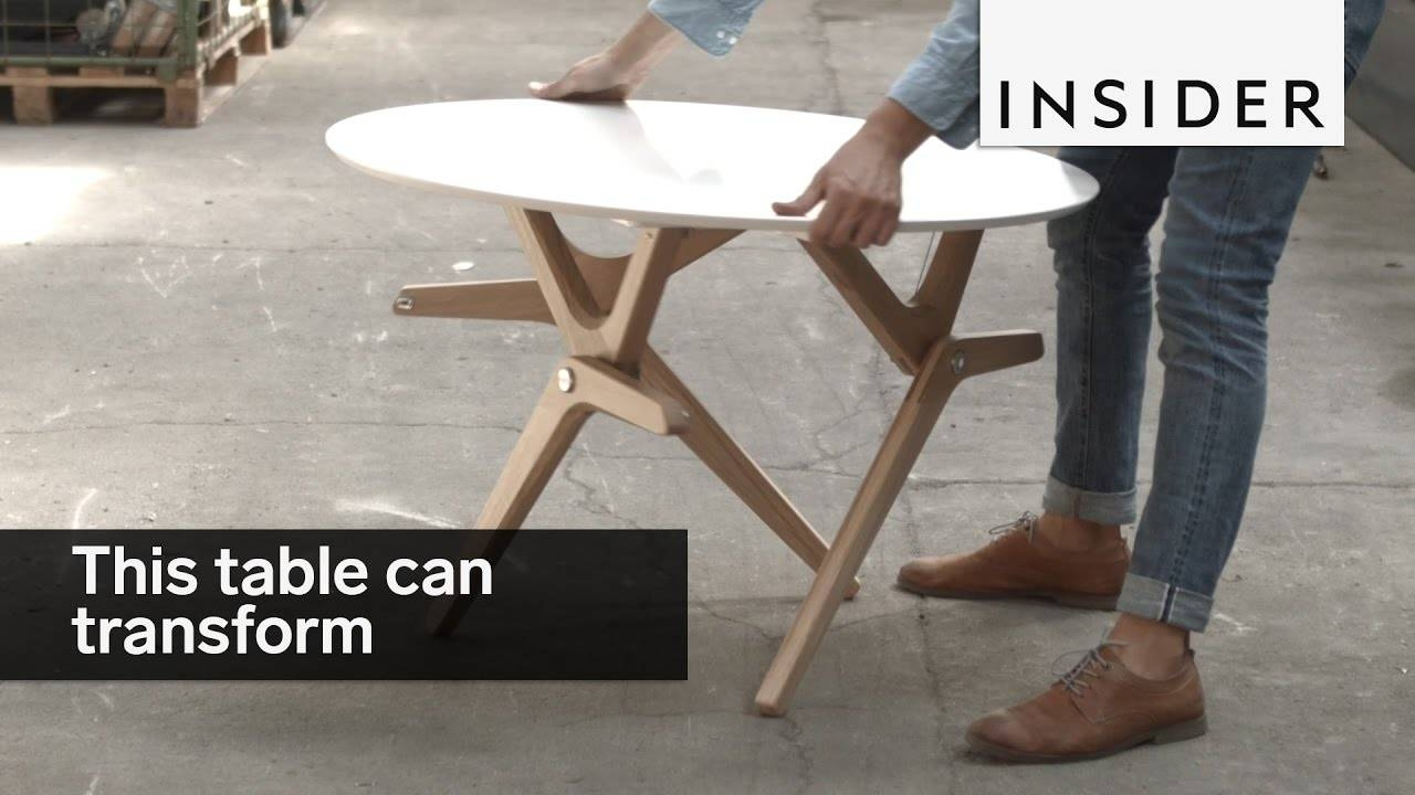 This Table Tranforms From A Coffee Table To A Dining Table - Youtube inside Coffee Table Dining Table (Image 22 of 30)