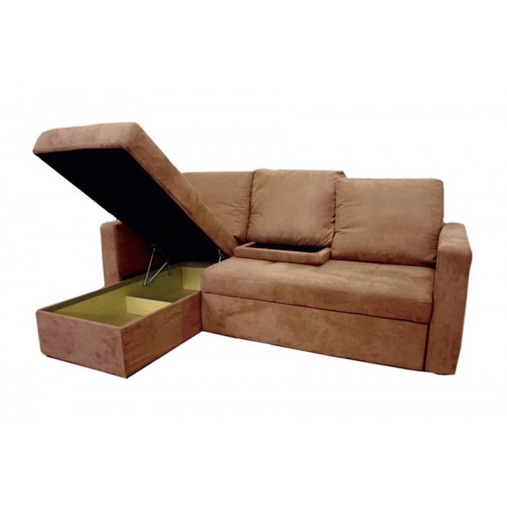 Thy-Hom 4114Lfc Saleen Microsuede Sectional Sofa Bed With Storage with Sectional Sofa With Storage (Image 24 of 25)