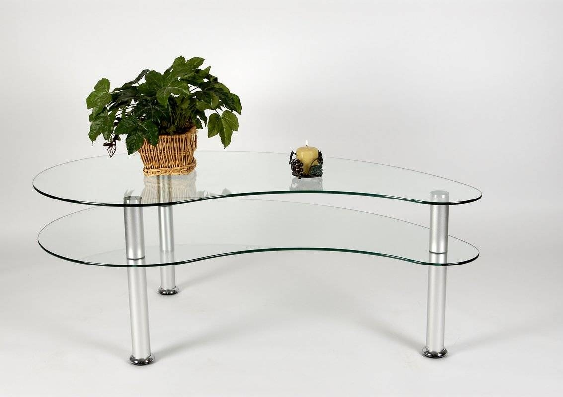 Tier One Designs 2-Tier Freeform Coffee Table & Reviews | Wayfair intended for Free Form Coffee Tables (Image 27 of 30)