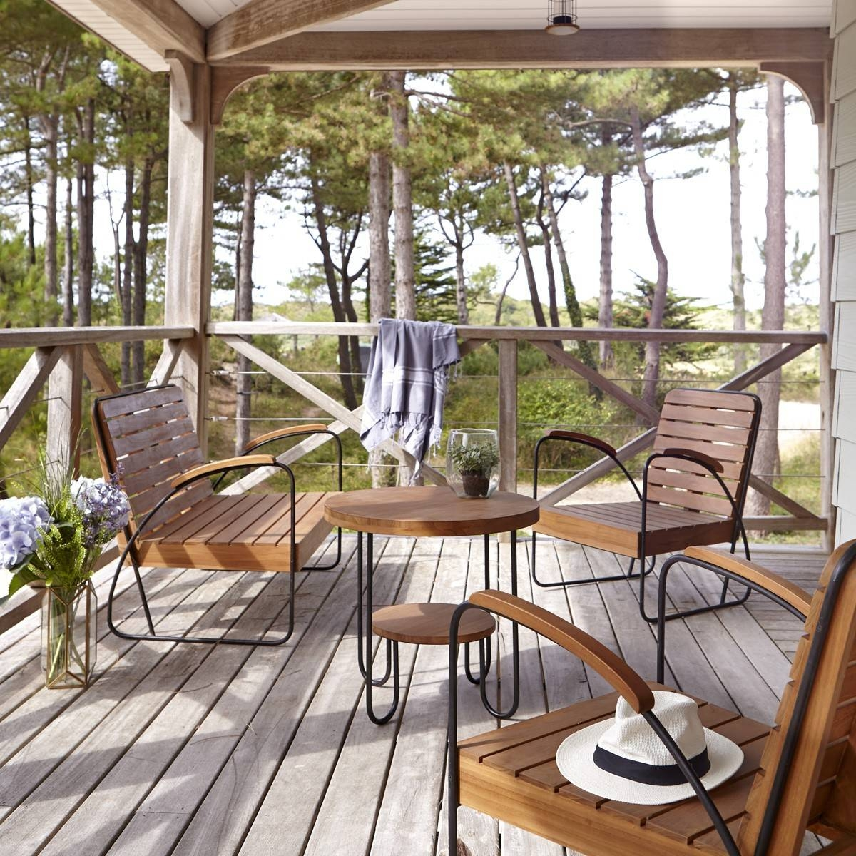 Tikamoon : Key Wood Outdoor Coffee Table And Chairs Inside Wooden Garden Coffee Tables (Image 24 of 30)