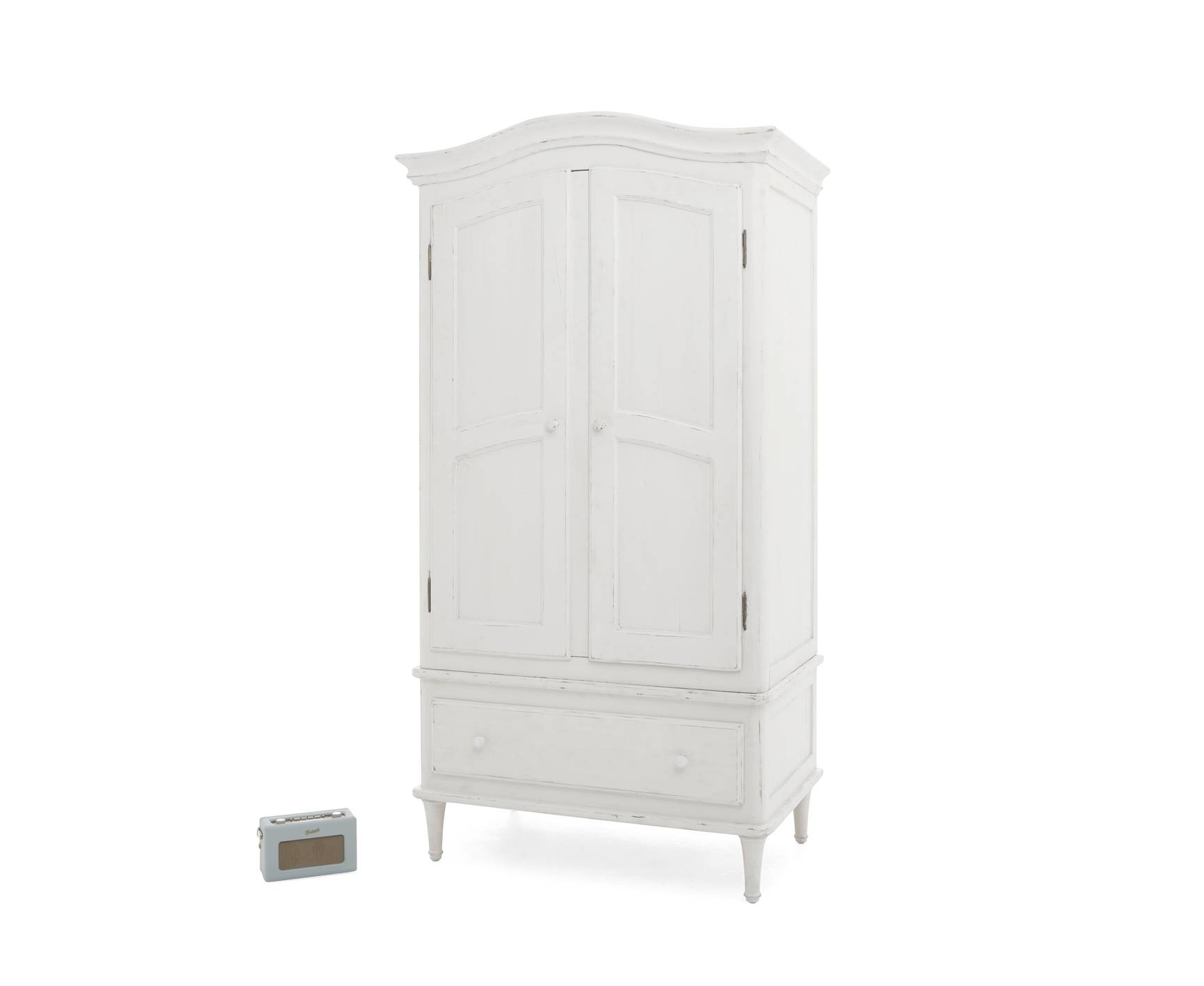 Timbers Wardrobe | White Painted Wardrobe | Loaf inside Vintage Style Wardrobes (Image 11 of 15)