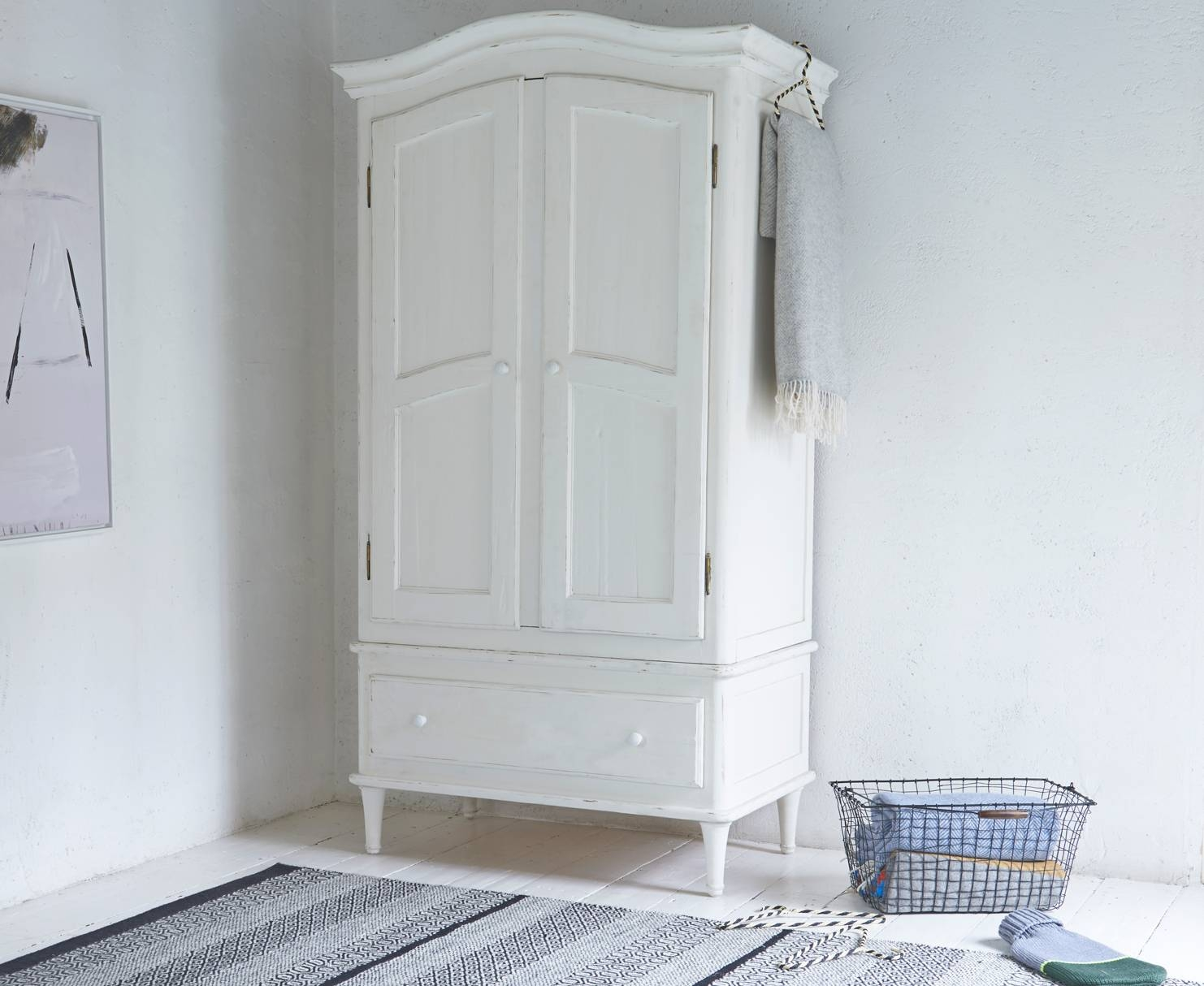 Timbers Wardrobe | White Painted Wardrobe | Loaf throughout Chic Wardrobes (Image 12 of 15)