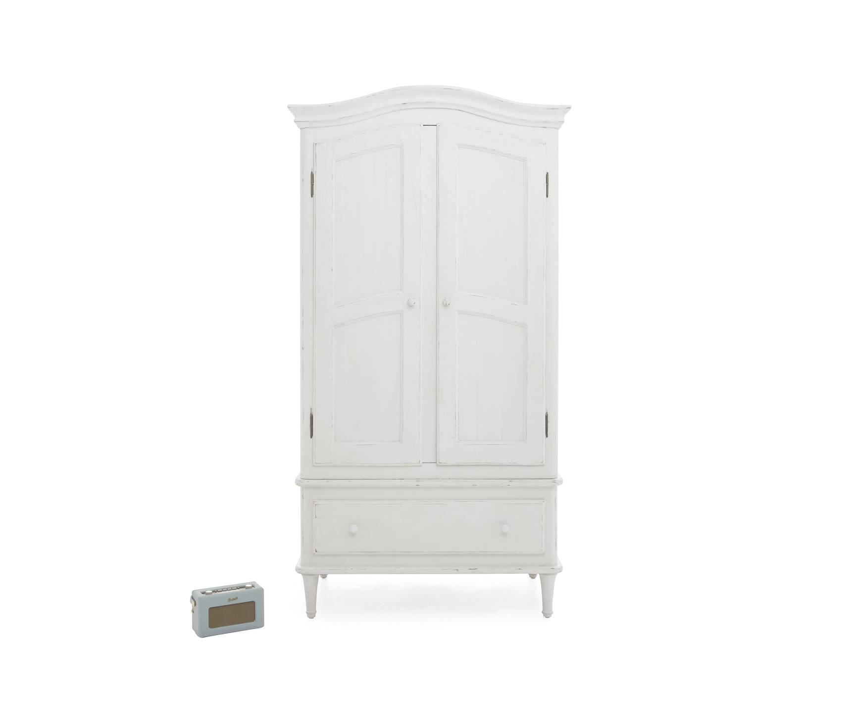 Timbers Wardrobe | White Painted Wardrobe | Loaf within White Vintage Wardrobes (Image 12 of 15)