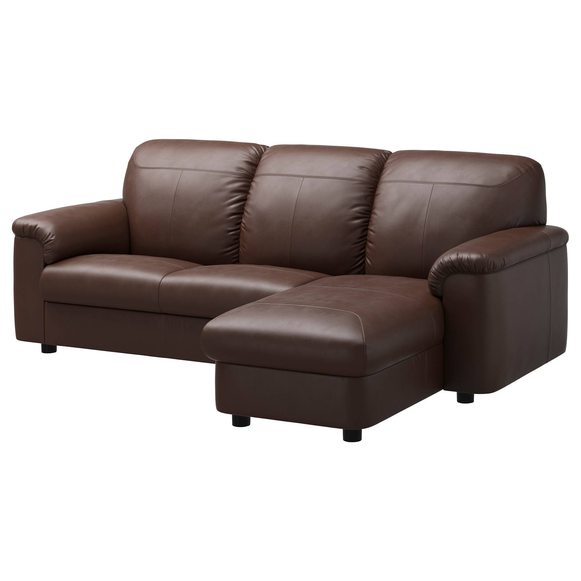 Timsfors Two-Seat Sofa With Chaise Longue Mjuk/kimstad Dark Brown pertaining to Ikea Two Seater Sofas (Image 26 of 30)