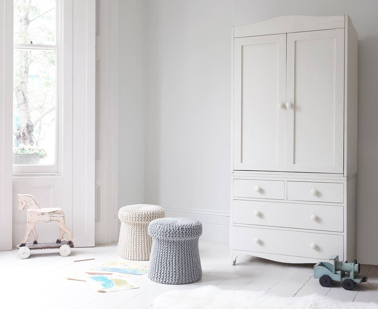 Tinks Kids' Wardrobe | Children's White Wardrobe | Loaf with Childrens Wardrobes White (Image 14 of 15)
