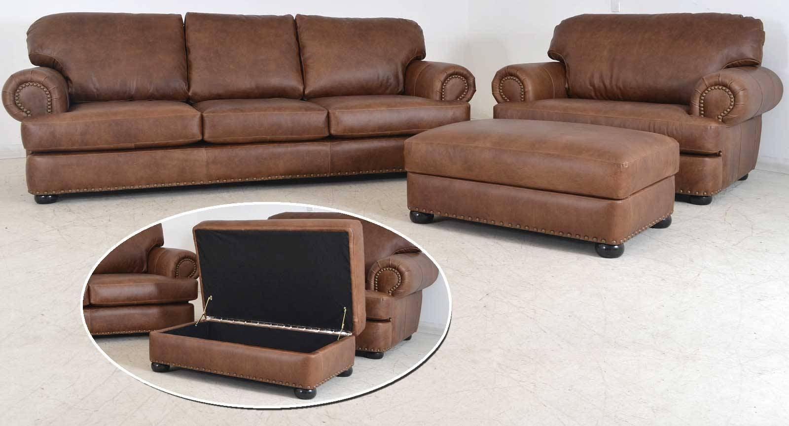 Titan Sofa ‹‹ The Leather Sofa Company intended for Sofa Chair and Ottoman (Image 14 of 15)