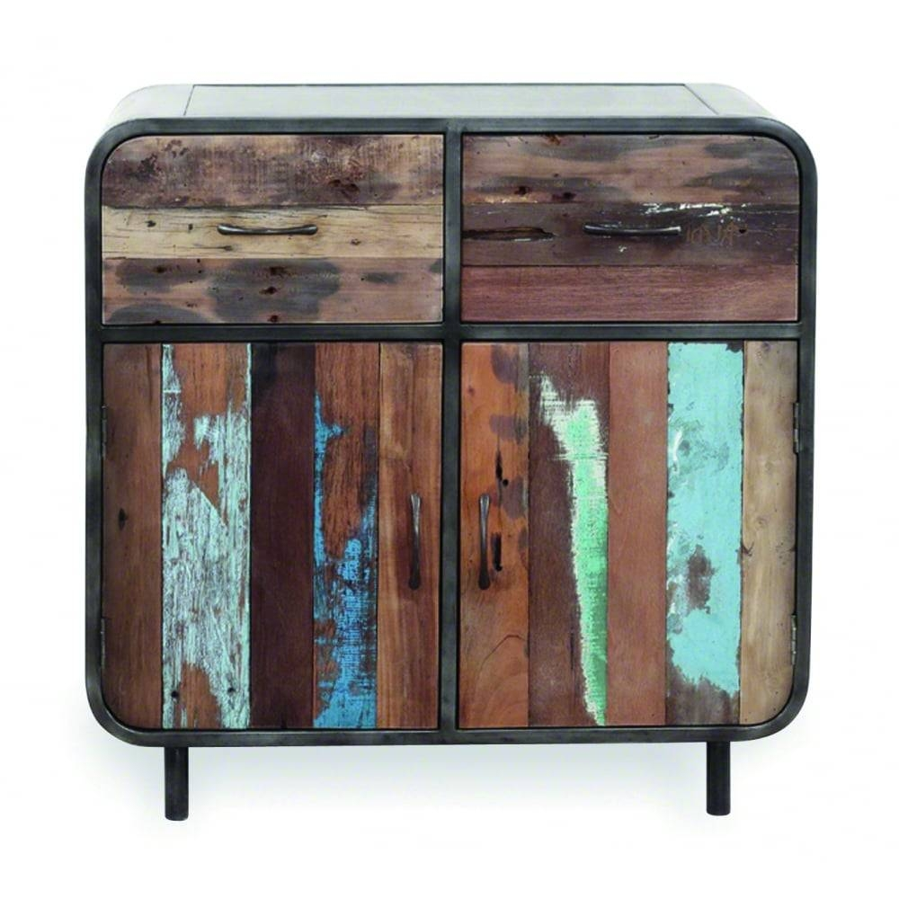 Titanic Retro 2 Drawer 2 Door Reclaimed Wood Sideboard | Cult Uk Within Small Sideboards (View 29 of 30)