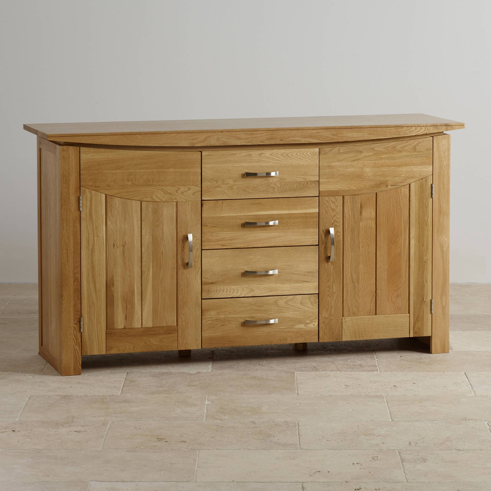 Tokyo Large Sideboard In Natural Solid Oak | Oak Furniture Land in Oak Sideboards for Sale (Image 29 of 30)