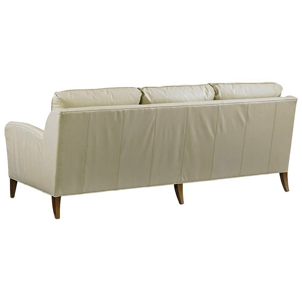 Tommy Bahama 01 Ll7287 33 52 Twin Palms Coconut Grove Leather Sofa Regarding Ivory Leather Sofas (View 26 of 30)