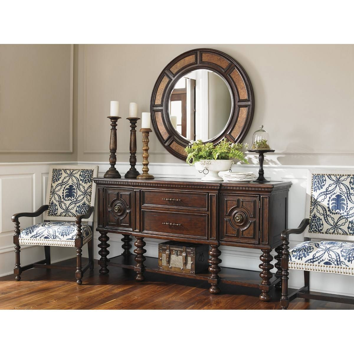 Tommy Bahama 552-869 Kilimanjaro Cipriana Sideboard In Dark Brown with regard to Dark Brown Sideboards (Image 29 of 30)