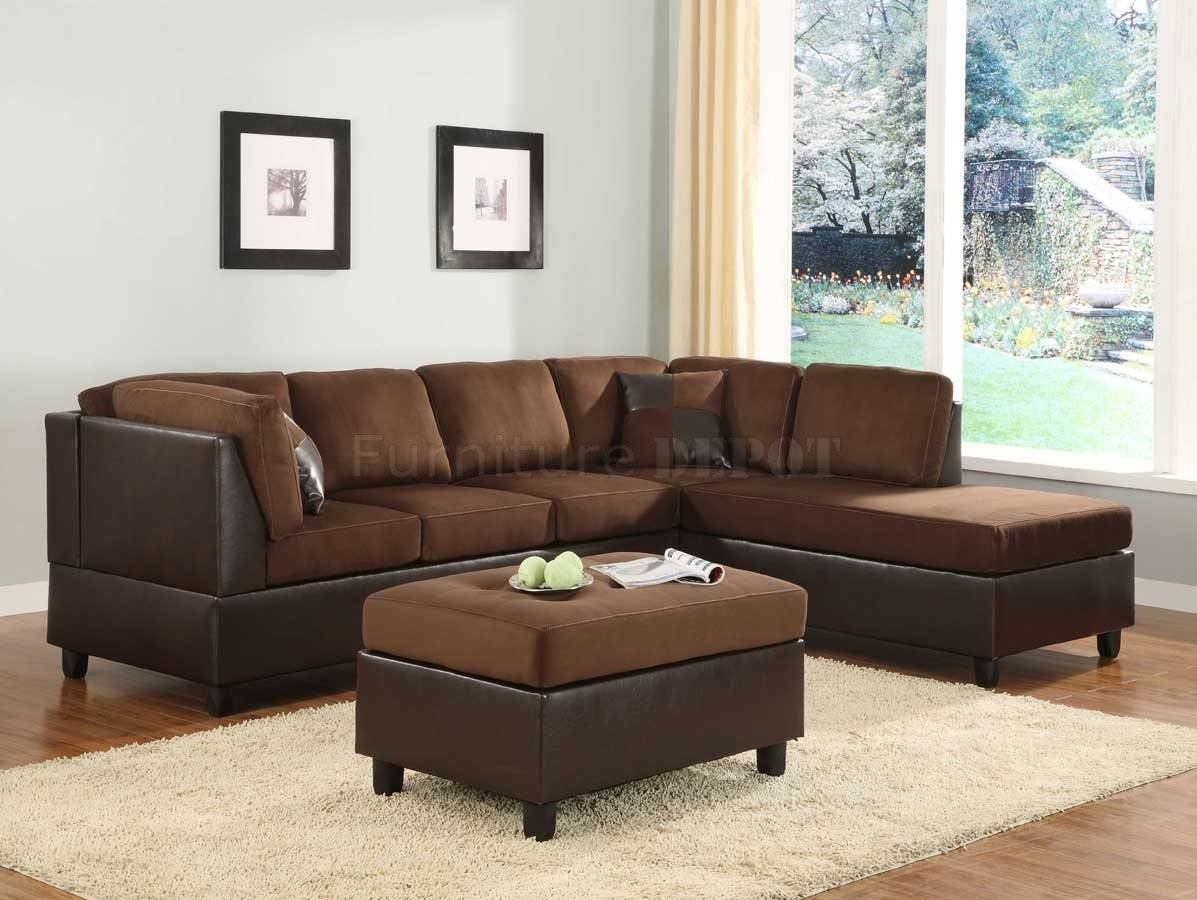 Top 10 Chocolate Microfiber Modern Sectional Sofa - S3Net intended for 10 Piece Sectional Sofa (Image 27 of 30)