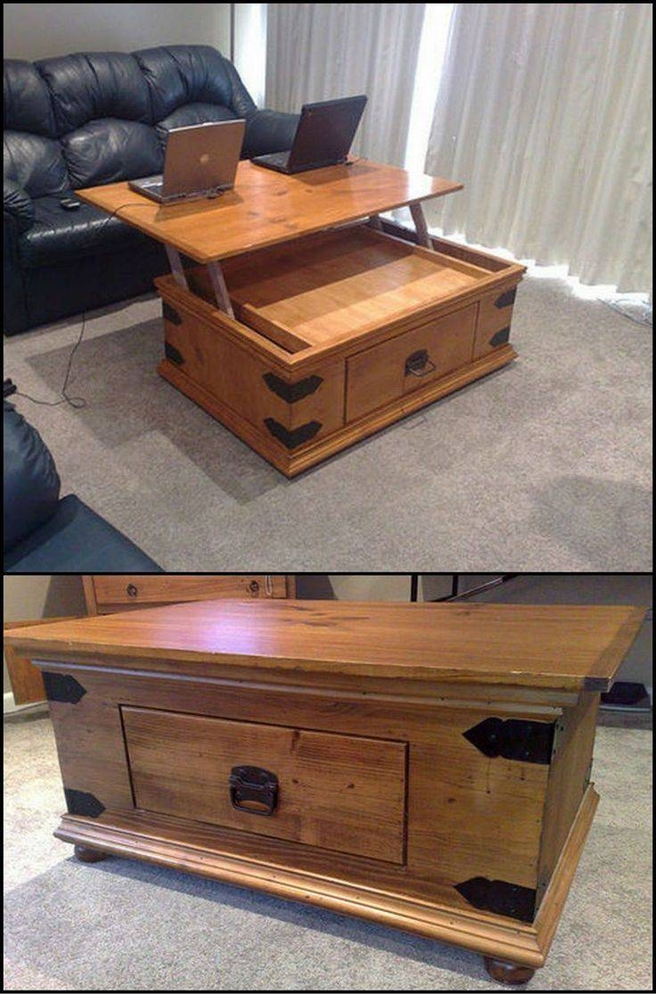 Top 25 Best Lift Top Coffee Table Ideas On Pinterest Used Pertaining To Elevating