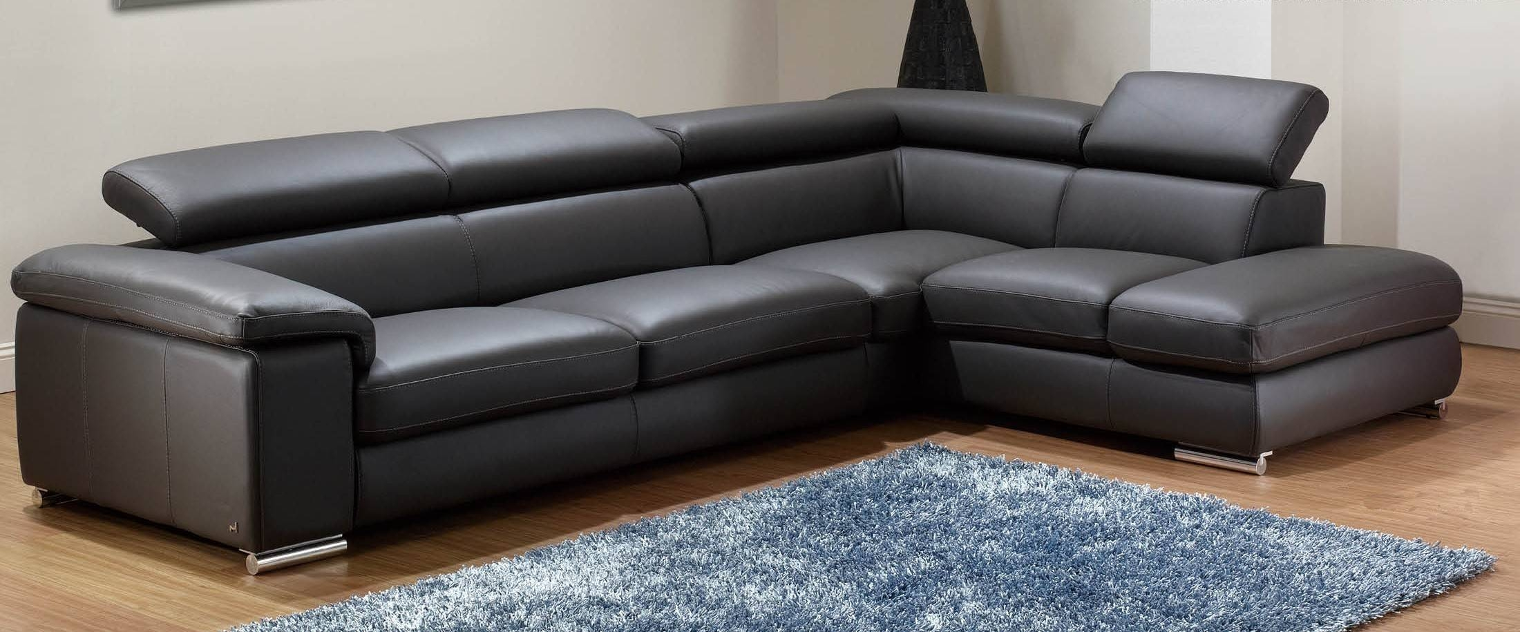 Top Graded Italian Genuine Leather Sofa Sectional Living Room Sofa for Modern Reclining Leather Sofas (Image 30 of 30)