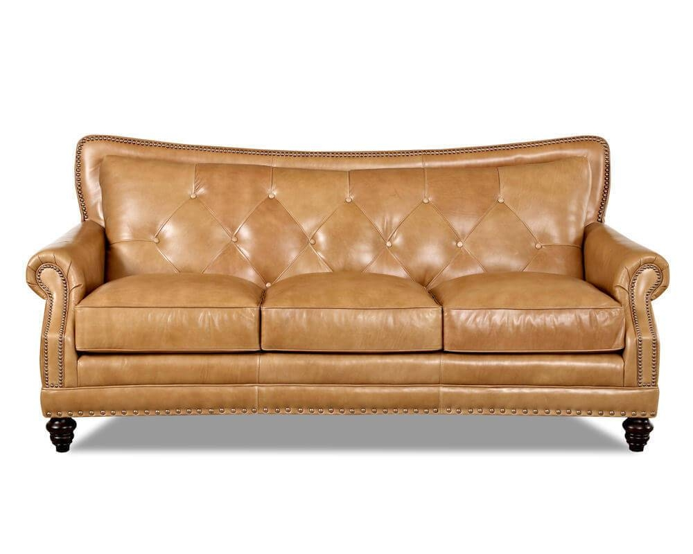 Top Grain Full Aniline Leather Sofas | Davis Top Grain Leather 7010 throughout Aniline Leather Sofas (Image 30 of 30)