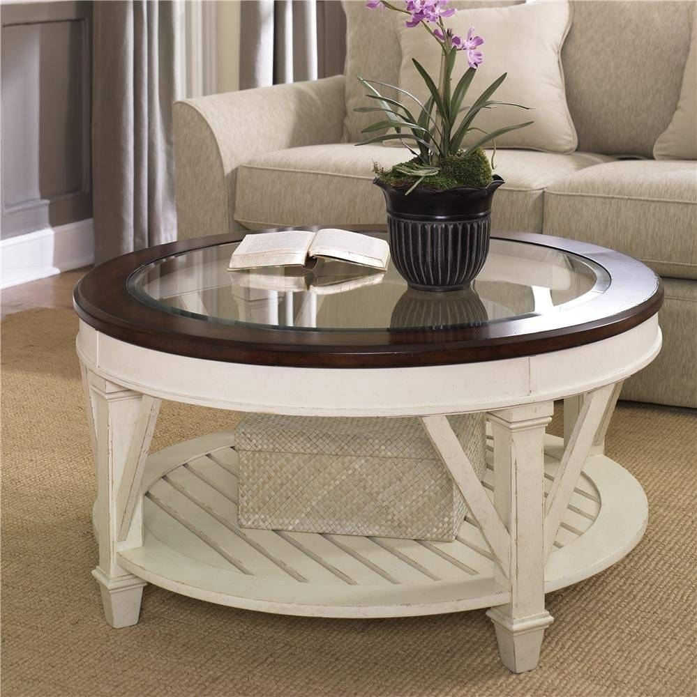 Top Round Glass Coffee Table : Round Glass Coffee Table – Home for White Circle Coffee Tables (Image 24 of 30)