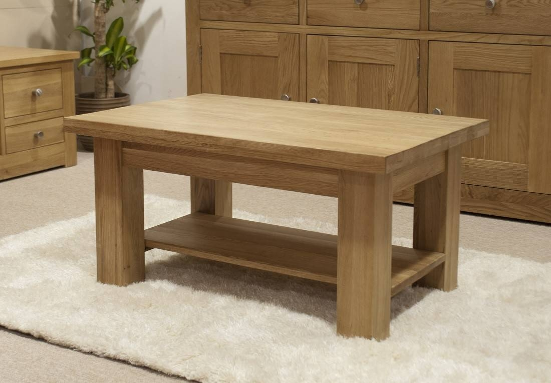 Torino Solid Oak 3X2 Small Coffee Table | Oak Furniture Uk pertaining to Torino Coffee Tables (Image 23 of 30)