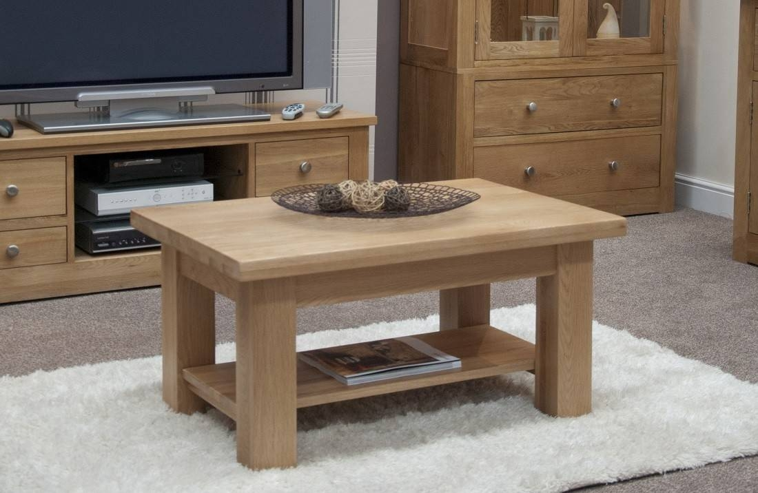 Torino Solid Oak 3X2 Small Coffee Table | Oak Furniture Uk with Torino Coffee Tables (Image 24 of 30)